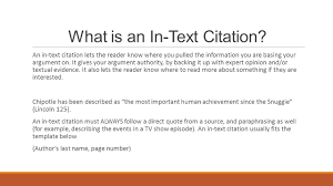 In Text Citations Mla Format Ppt Download