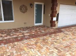 old chicago brick driveway we recently installed in boca raton fl