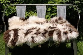 very thick plush natural sheepskin throw rug 283