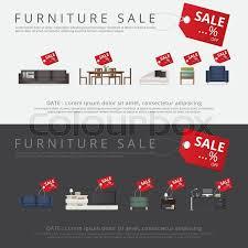 furniture sale banner. Banner Furniture Sale Advertisement Flayers Vector Illustration,