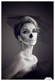 halloween makeup skeleton corpse