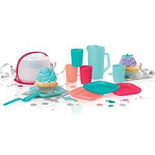 tupperware 11 pc kids mini party set baking set gift tea set