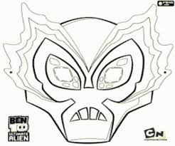 Big Chill Masker Ben 10 Ultimate Alien Kleurplaat Aliens Ben 10
