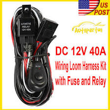 universal fog light wiring harness ebay Light Wiring Harness universal wiring kit fog light driving lamp wiring harness fuse switch relay light wiring harness for jeep wrangler
