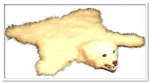 faux bear skin rug polar bearskin teddy canada be