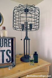 Eclectic Teen Boy Bedroom Makeover - Rustic Industrial Cage Light with  Edison Bulbs w wmjpg