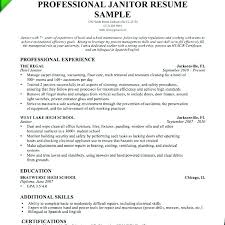Custodian Resume Samples Gorgeous Janitorial Sample Resume Janitor Resume Sample Janitorial Warehouse