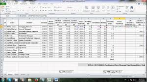 Salary Chart In Excel Format How To Make Salary Sheet Using Microsoft Excel