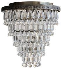 celeste 32 flush mount glass drop crystal chandelier antique brass celeste extra large