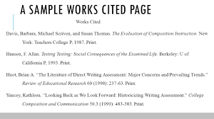 How To List Works Cited Work Cited Page In Mla Format Custom Paper Example 2598 Words