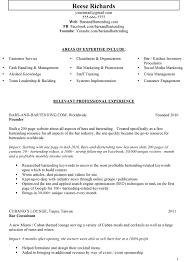 bartender responsibilities for resumes   uhpy is resume in you pharmacist resume dubai s lewesmr