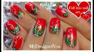 How To Christmas Nail Designs