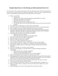 Good Questions To Ask In An Informational Interview Sample Questions To Ask During An Informational Interview