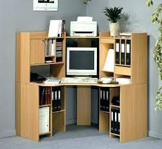 small desk home office. Corner Tower Computer Desk Home Office Dark Wood Small Black Apollo L