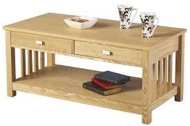 ash 2 drawer coffee table main image
