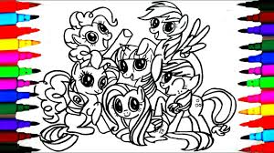 How To Draw Mlp Friendship Is Magic Coloring Drawing Pages Videos