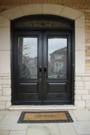 fiberglass double door with a transom