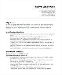 Personal Resume Format Personal Trainer Resume Personal Data Resume
