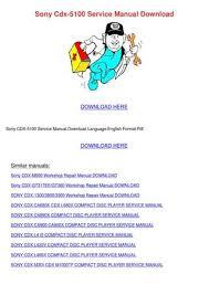 sony cdx 5100 service manual by loydloveless issuu sony cdx 5100 service manual