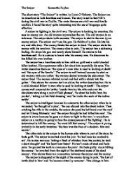 the sniper by liam o flaherty review a level english marked  page 1 zoom in