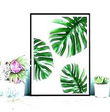 palm leaf wall art tropical canvas decor leaves metal cainianinfo palm leaf wall art decor tropical