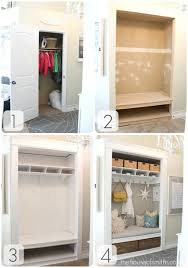 convert a closet to lockers the house of smiths home diy blog interior decorating blog decorating on a budget blog