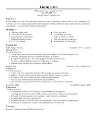 Ideas Of Aesthetician Resume Sample Lovely Esthetician Resume