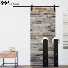 winsoon 5 16ft sliding barn door hardware aluminum rollers track kit cabinet closet i