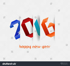 happy new year banner 2016. Unique 2016 Happy New Year 2016 Banner Origami Illustration Calendar Cover Design For New Year Banner 1