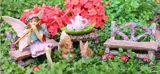 fairy garden images. Plain Fairy BELLA AND FRIENDS FAIRY GARDEN SET Intended Fairy Garden Images
