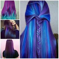 Purple Hair Style amazing blue and purple hair color ideas for 2017 new hair color 5946 by wearticles.com