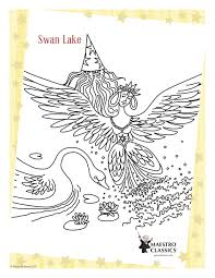 swan lake coloring page for kids swan lake coloring page image