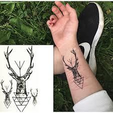 10 Pcs Tetovací Nálepky Dočasné Tetování Zvířecí řada Tělesné Arts Paže Zápěstí Rameno