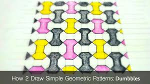 How To Draw Simple Geometric Patterns Dumbbell Tiling