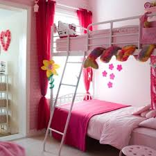 Girly Pink Bunk Bed For Twins