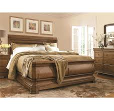 Louis Bedroom Furniture Louis Philippe Solid Wood King Sleigh Bed Cognac Zin Home