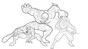 Small Picture Spiderman Venom Coloring Pages Spiderman And Venom Coloring 20225