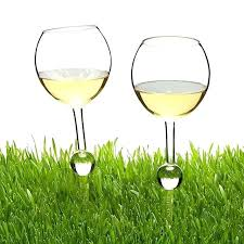outdoor wine glass holder glasses set of 2 table and with bottle cooler stake