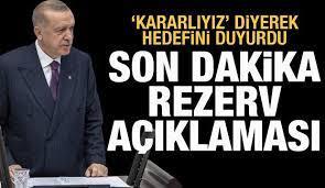 Cumhurbaşkanı Erdoğan'dan son dakika rezerv açıklaması! - Ekonomi Haberleri