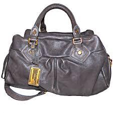 marc jacobs classic q groovee shoulder bag satchel faded aluminum gray leather