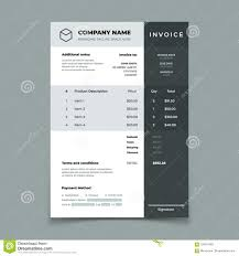 Quotation On Design Invoice Template Bill With Price Table Paper Order Bookkeeping
