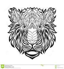 Zentangle Stylized Tiger Head Sketch For Tattoo Or T Shirt Stock