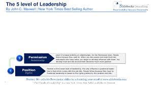 John Maxwell 5 Levels Of Leadership The 5 Levels Of Leadership By John C Maxwell