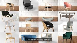 3d Max Furniture Design Ton Design 18 Furniture Model Pack 3d Model Collection