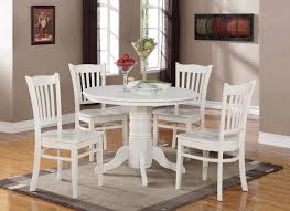 White Round Kitchen Table 3 Pc Round Kitchen Table With 2 Dining Slatted Back Chairs In