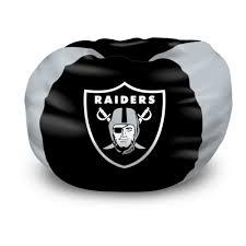 Nfl Bedroom Furniture Nfl Bean Bag Chair Oakland Raiders Bedroom Football Free Shipping