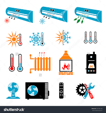 heating cooling icon. heating and cooling icons icon t