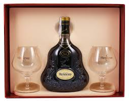 hennessy xo gift set with 2 gles