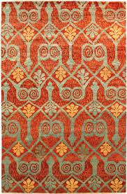 interesting ikat rug for your floor design red oriental ikat rug