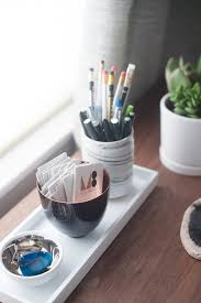 diy office desk accessories. Creative Idea:Desk Accessories With White Pencils Stand And Small Bowl Shaped Metal Cards Storage Diy Office Desk S